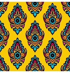 Ellow damask flower seamless abstract background vector