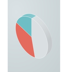 Isometric pie chart icon vector