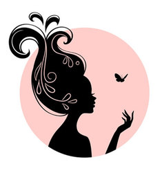 Silhouette head vector