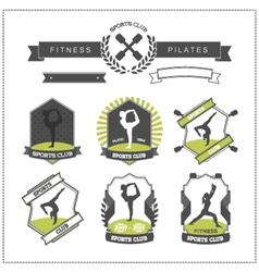 Set of sports clubs badges vector