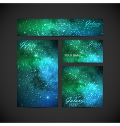 Set of visual corporate identity with galaxy milky vector