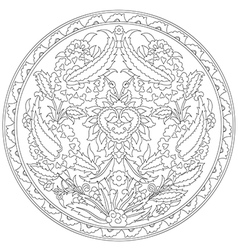 Artistic ottoman pattern series fourty eight vector