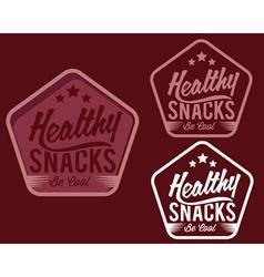 Vintage emblem healthy snaks vector