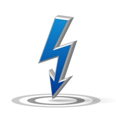Blue flash arrow vector