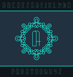 Set from the monogram and a font vector