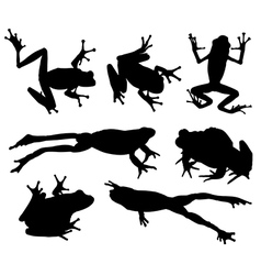 Frog silhouette vector