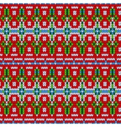 Color knitted christmas seamless pattern vector