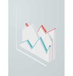 Isometric line chart icon vector