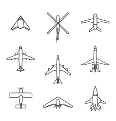 Line aircraft set vector