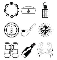 Nautical elements iv vector