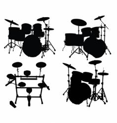 Drums kits vector