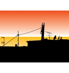 Rooftop aryls vector