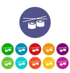 Sushi flat icon vector