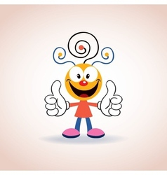 Cute mascot cartoon character 2 vector
