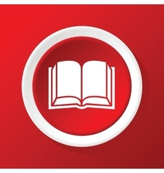 Open book icon on red vector