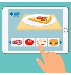 Concept of the grocery online store order food vector