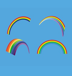 Rainbow collection vector