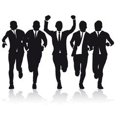 Business runners vector