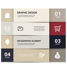 Paper e commerce and numbers design template vector