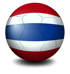 A soccer ball with the flag of thailand vector