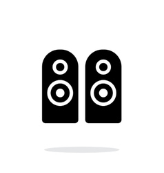 Two audio speakersicon on white background vector