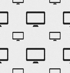 Computer widescreen monitor icon sign seamless vector
