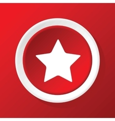 Star icon on red vector