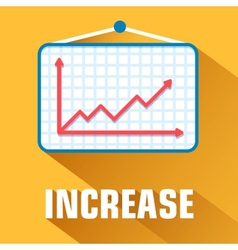 Flat increase background concept vector