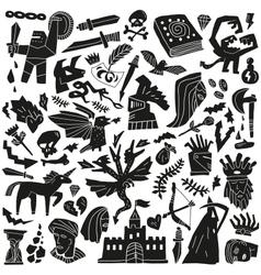 Fairy tale - doodles vector