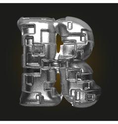 Metal figure r vector