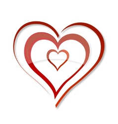 Love heart symbol vector