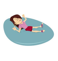 Relaxing woman vector