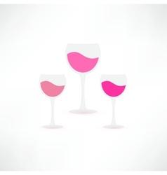 Wine glasses icon vector