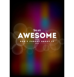 You are awesome typography vector