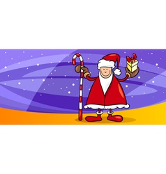 Santa greeting card cartoon vector
