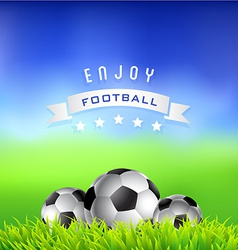 Enjoy football time background vector