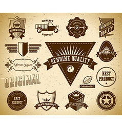 Vintage labels collection 13 vector