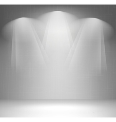 Wall with spotlight vector