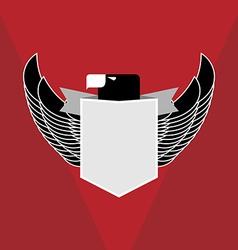 Military emblem eagle vector