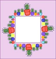Cactus frame vector