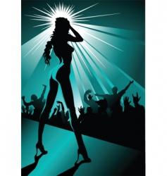 Night striptease vector
