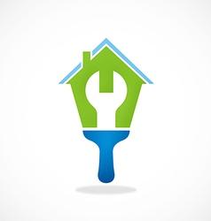 House work maintenance logo vector
