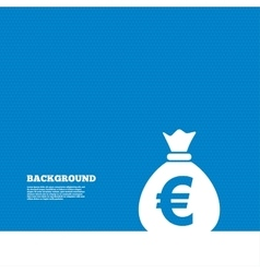 Money bag sign icon euro eur currency vector