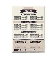 Restaurant menu template design vector