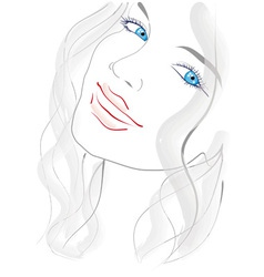 Blue eyed girl vector