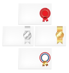 Prize ribbon note vector