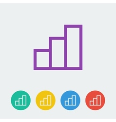 Statistic flat circle icon vector