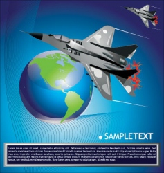 Jet fighter aircraft vector
