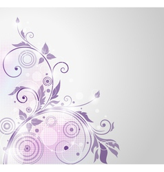 Beautiful background with flora vector