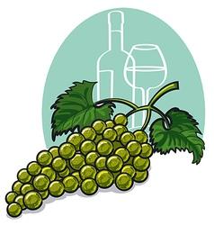 White grapes vector